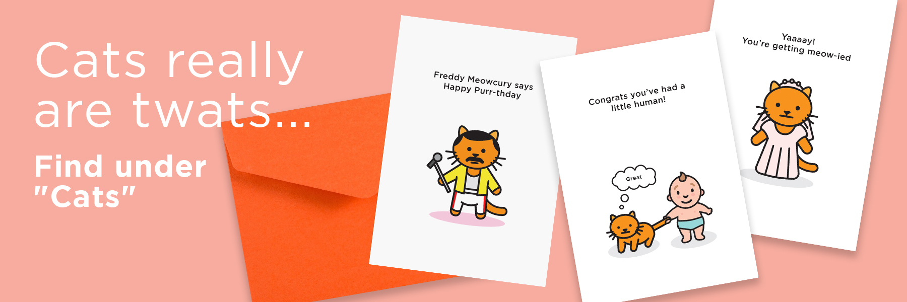 Cat Cards | Rude, Funny, Offensive Cards
