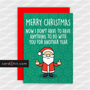 ANYTHING TO DO WITH YOU   Rude Christmas Cards