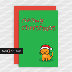 Meowy Christmas | Cat Christmas Cards