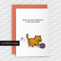 Greetings Cards Mothers Day Cards You're the best Stepmum in the hole world
