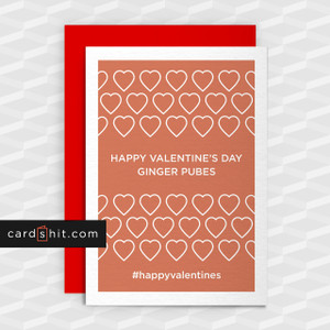 Greeting Cards Valentines Day Cards HAPPY VALENTINE'S DAY GINGER PUBES #happyvalentines
