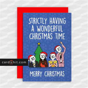 WONDERFUL CHRISTMAS TIME   Strictly Come Dancing Christmas Cards