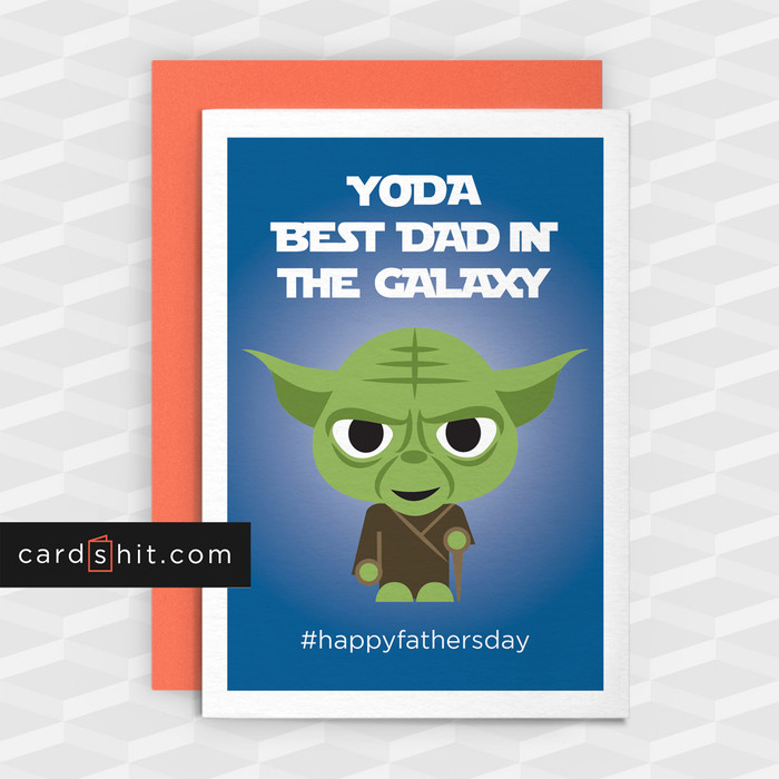 YODA BEST DAD IN THE GALAXY | Funny Star Wars Cards