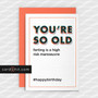 Greeting Cards Birthday Cards YOU'RE SO OLD farting is a high risk manouvre  #happybirthday