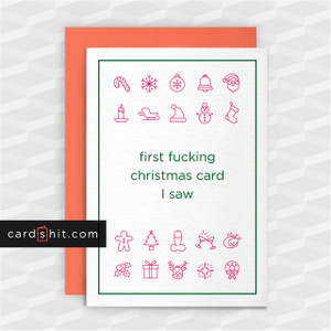 Greeting Cards Christmas Cards first fucking christmas card i saw