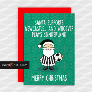 SANTA SUPPORTS NEWCASTLE   Newcastle United Christmas Cards