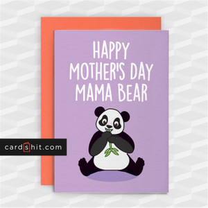 HAPPY MOTHER'S DAY MAMA BEAR | Cute Mother's Day Cards
