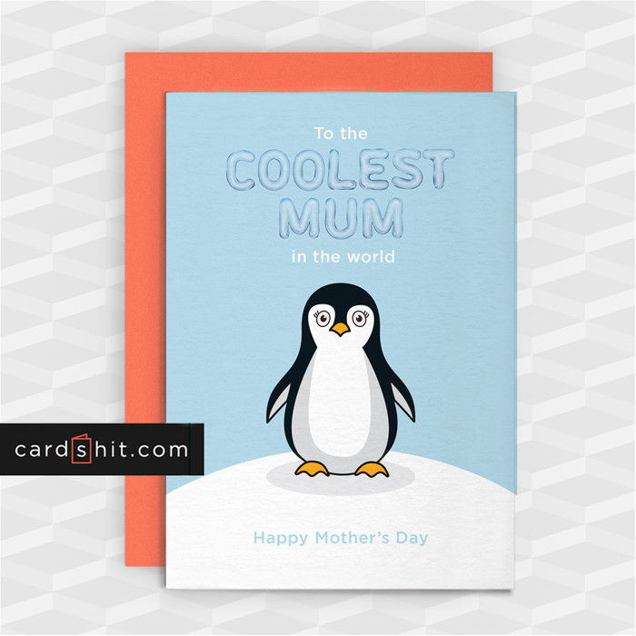 Greetings Cards Mothers Day Cards To the COOLEST MUM in the world Happy Mother's Day