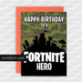 Greeting Cards Birthday Cards HAPPY BIRTHDAY TO A FORTNITE HERO