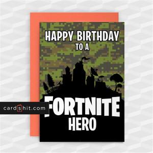 FORTNITE HERO | Fortnite Birthday Cards