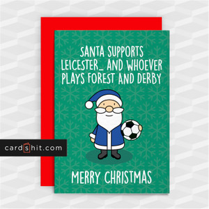 SANTA SUPPORTS LEICESTER   Leicester City Christmas Cards