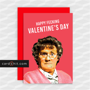 HAPPY FECKING VALENTINE'S DAY | Rude Valentines Cards