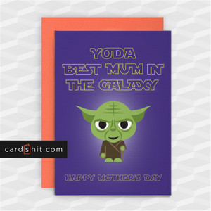 YODA BEST MUM IN THE GALAXY | Funny Mother's Day Card