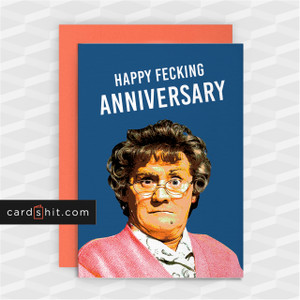 HAPPY FECKING ANNIVERSARY | Rude Anniversary Cards