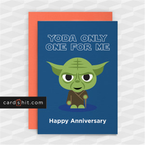 YODA ONLY ONE FOR ME| Funny Star Wars Cards