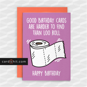 GOOD BIRTHDAY CARDS HARDER TO FIND THAN LOO ROLL | Corona Virus Birthday Cards