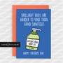 BRILLIANT DADS ARE HARDER TO FIND THAN HAND SANITISER | Coronavirus Father's Day Cards