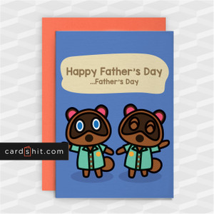 HAPPY FATHER'S DAY | Animal Crossing Father's Day Cards