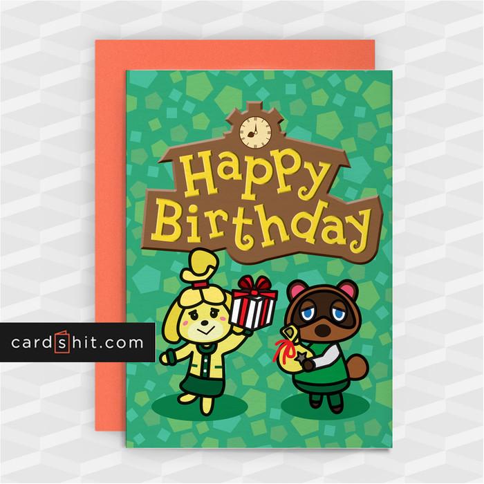 HAPPY BIRTHDAY   Animal Crossing Birthday Cards
