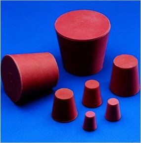 Conical Stoppers, Red Rubber, Kartell