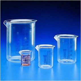 Kartell Blue Graduated Low Form Beakers PMP