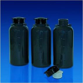 Kartell Narrow Neck Grey Bottles