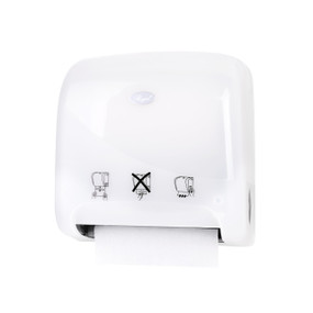Mini Autocut Hand Towel Dispenser - White