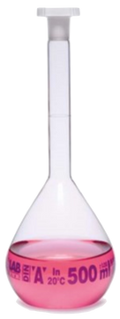 Isolab Clear Volumetric Flask