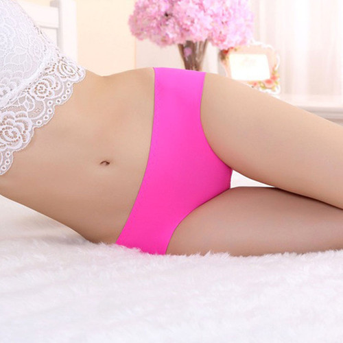 Traceless high rise panty, hot pink