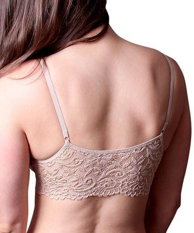 Coobie Lace Back Scoop Neck Bra (9015), Nude