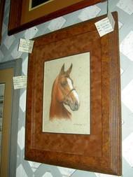 Horse Original Pastel Drawing on Handmade Paper by L.M. Hornberger
