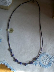 Blue Beaded Necklace Hand Made by Shannon Greiczek