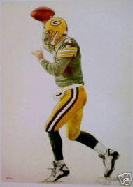 Brett Favre #4 Green Bay Packers Football Print
