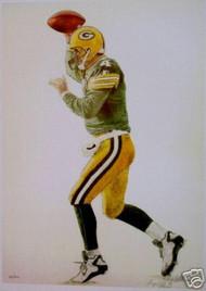 Brett Favre #4 Green Bay Packers Football Print