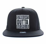 "SM731 ""STRAIGHT OUTTA GEORGIA"" Cotton Snapback (Solid Black)"