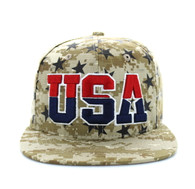 SM369 USA Star Snapback (Solid Digital Camo)