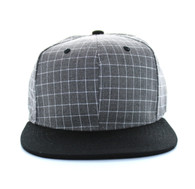 SP177 Blank Cotton Snapback (Grey & Black)