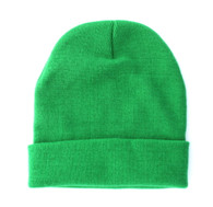 "WB080 Plain 12"" Long Beanie (Solid Kelly Green)"