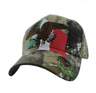 VM054 Mexico Eagle Velcro Cap (Solid Hunting Camo)
