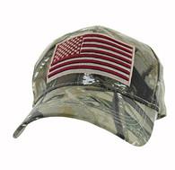 VM367 American USA Flag Velcro Cap (Hunting Camo)