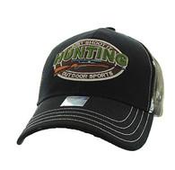VM504 Hunting Outdoor Sports Velcro Cap (Black & Hunting Camo)
