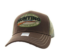 VM504 Hunting Outdoor Sports Velcro Cap (Brown & Hunting Camo)