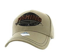 VM504 Fishing Outdoor Sports Velcro Cap (Solid Khaki)