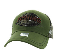 VM504 Fishing Outdoor Sports Velcro Cap (Olive & Hunting Camo)