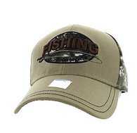 VM504 Fishing Outdoor Sports Velcro Cap (Khaki & Hunting Camo)