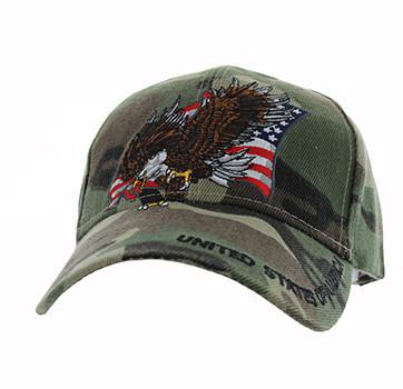 VM516 American USA Eagle Velcro Cap (Solid Military Camo) - Ace Cap ... 533c4b50284