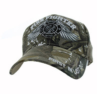 VM519 Fire Fighter Velcro Cap (Solid Hunting Camo)
