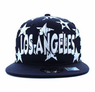 SM395 Los Angeles Star Cotton Snapback (Navy & White)