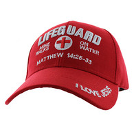 VM007 Life Guard Velcro Cap (Solid Red)
