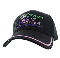 VM101 Woman of Faith Velcro Cap (Solid Black)